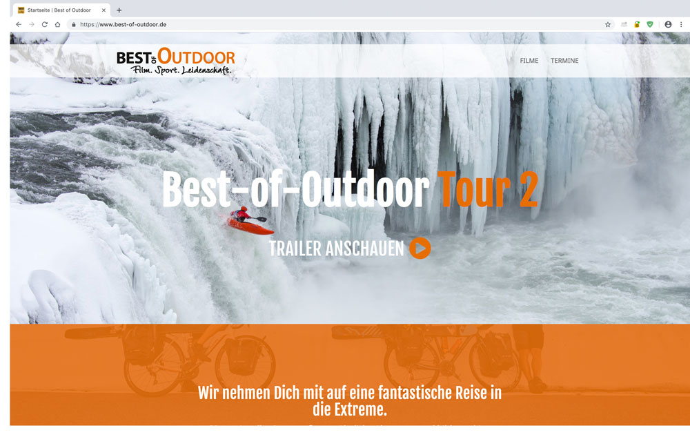 Best of Outdoor - Webdesign für Outdoor Websites